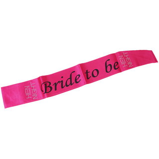 Rhinestone Bride to be Writting Hot Pink Sash Hens Night Wedding Shower