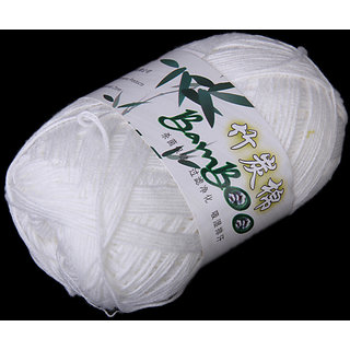 Tencel Bamboo Cotton Yarn For Baby -White