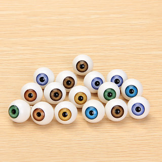 8 Pcs Round Acrylic Doll Eyes Eyeballs 16mm