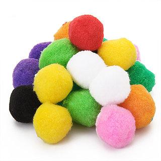 20pcs Multicolor Round Felt Ball 4cm