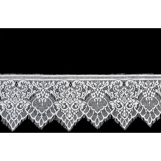 3 Yard 19cm Wide White Eyelash Lace Trim DIY Sewing Applique