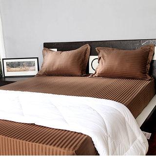 Stoa Paris Taupe 3pc Double Bedsheet Set 400 Thread Count (4034TP)