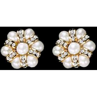 Pearl Cz Stone Earrings