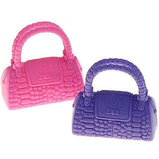 Hard Plastic Purse Handbag Crocodile Tote Bag for Barbie Doll - Assorted Color