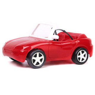 Gloria Red Plastic City Convertible Car Cabriolet Car Play Set For Barbie Dollhouse