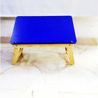 Omkar Foldable Laptop Bed Table with wooden frame and adjustable Top