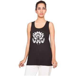 Forever Yoga Womens Printed Black Top