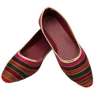 laveri multi color jaipuri womens jutti