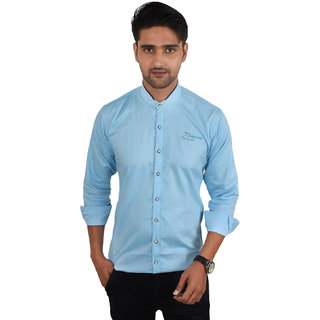 Kies Slim Fit Designer  Casual Solid Shirt