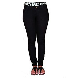 Black Slim Fit Womens Jeans