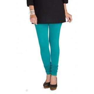 Tara Lifestyle Women Leggings Viscose Lycra Full Length Solid GREEN 2004