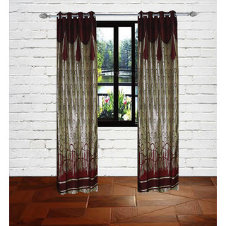 Gaurav Curtains Gold Touch Supremo Panel Polyster Curtain 2pcs