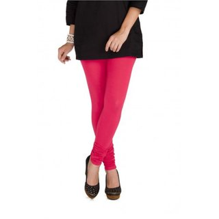 Tara Lifestyle Women Leggings Viscose Lycra Full Length Solid PINK 2006