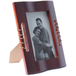 Dark Brown wooden set of two photo frame