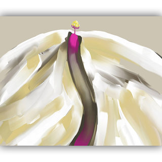 Vitalwalls Abstract Painting Premium Canvas Art Print.(Abstract-330-30cm)