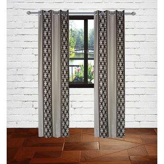Gaurav curtains Brown Knitting polyster curtains 2pcs