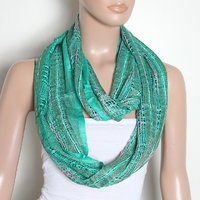Swan Stylish Scarf in Green Colour