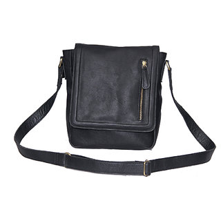 3064a92d2d Buy NCS Black Leather Crossbody Bags (NC021) Online   ₹1899 from ...