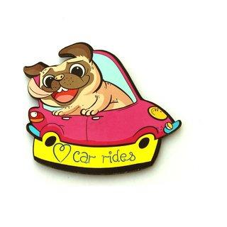 Homeblendz Zodiac Fridge Magnet-Car Pug