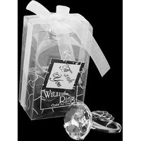 Clear Crystal Solitaire Diamond Napkin Ring Wedding Engagement Favors
