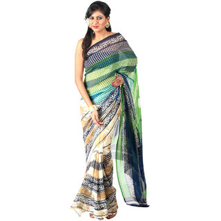 Vismit Embroidered Multicolour Designer Sarees
