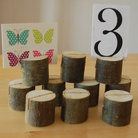 Wooden Name Place Card Holders Table Number Holder For Wedding Decor 10Pcs