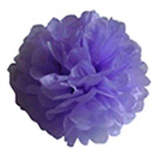 15 Tissue Paper Pom-Pom Flower Ball Wedding Party Decoration - Lavender