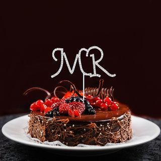 Crystal Rhinestone Mr Cake Topper Wedding Anniversary Decoration