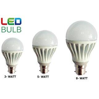 led bulb 3 WATT, 5 WATT, 8 WATT COMBO
