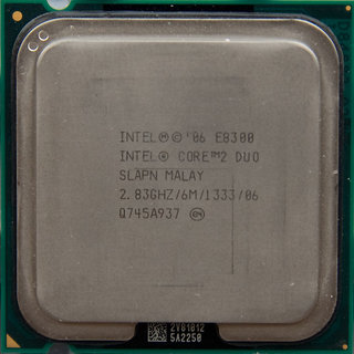Intel Core2 Duo 2.83 Processor E8300 With Original FAN (6Mb/2.83Ghz/1333 Fsb)