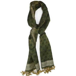 Designer Women Scaf (Hand Made)  - Pista Green