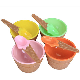 Ice Cream Bowls And Spoons Set