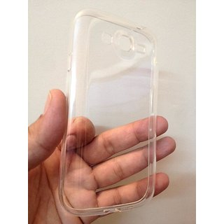 Soft Silicon Shell Back Case Cover For I9082 Transparent