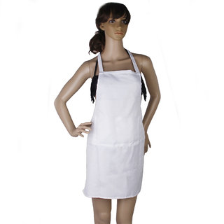White Kitchen Cooking Apron Home Restaurant