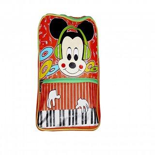 Akash Ganga Red  Orange Micky Mouse School Bag (SB92)