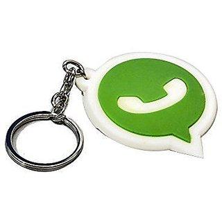 Designer Whatsapp Logo Soft Rubber Keychain For Car/Bike
