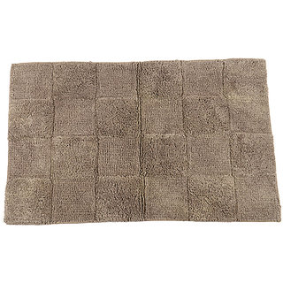 Homefurry GLOSSY TILES Brown Bath Rug