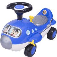 Ez Playmates Mini Cartoon Plane Ride On Blue