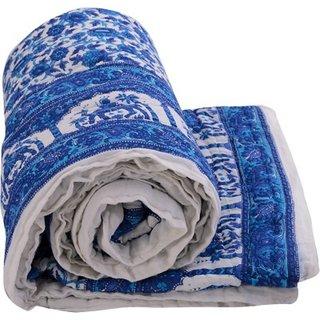 Marwal Jaipuri Rajai Handmade Printed Quilt 100 Cotton Double Blanket