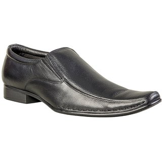 Khadims Lazard Black Formal Slip-On Shoe