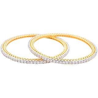 Perfection Golden alloy Metal Bangles for Women (H 28)