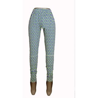 Women blue printed legging