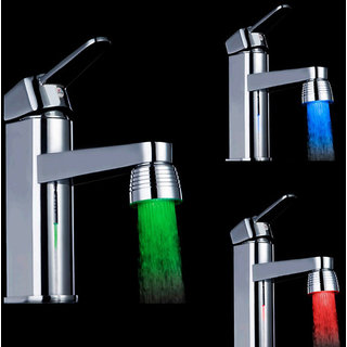 Three-Colored Changing Temperature Sensor Spray LED Water Faucet Tap