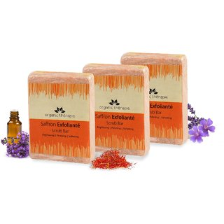 Saffron Exfoliante Scrub Bar - 225gm (pack of 3)