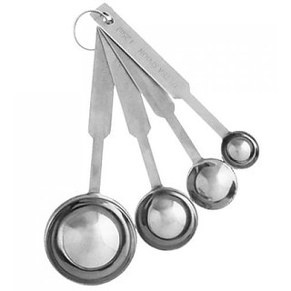 4 Piece Stainless Steel Measuring Tea Spoon Measure Set