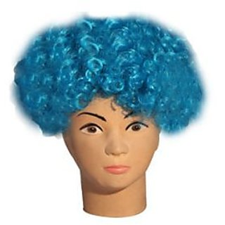 Turquoise Curly Wig