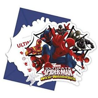 Ultimate Spiderman Web Warriors-Die-Cut Invitations  Envelopes