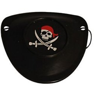 Hard Pirate Eye Patch Red Scarf