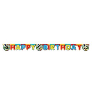 Mickey - Happy Birthday Die Cut Banner