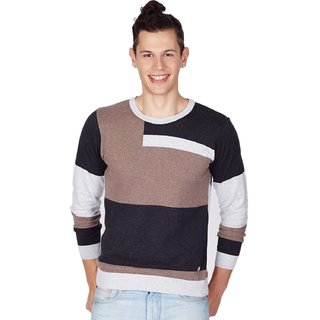 Monte Carlo Mens Brown Round Neck Sweater